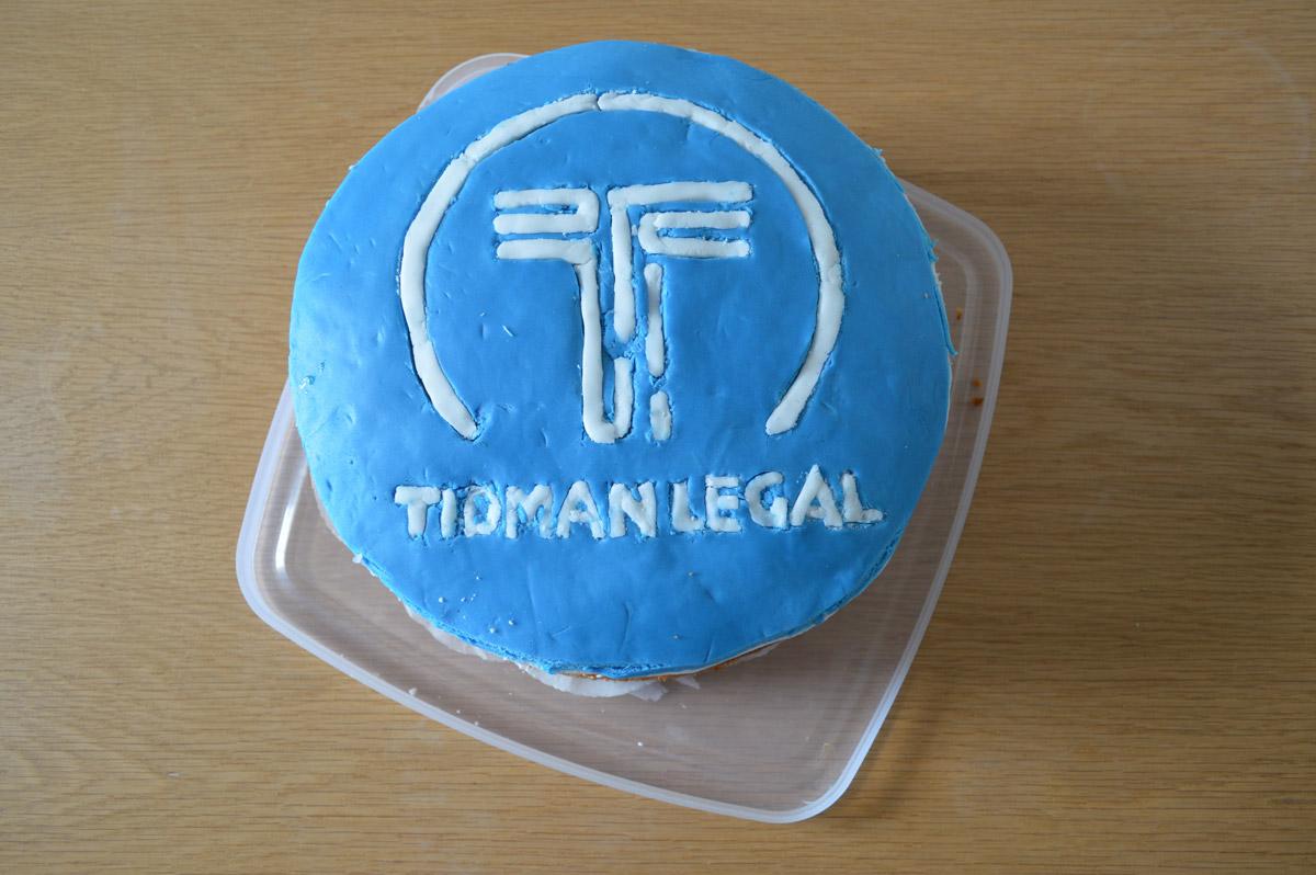 Tidman Legal Cake