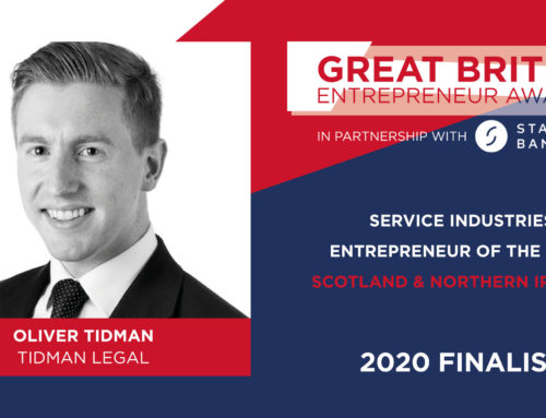 Tidman Great British Entrepreneur Finalist… For Second Year In A Row!